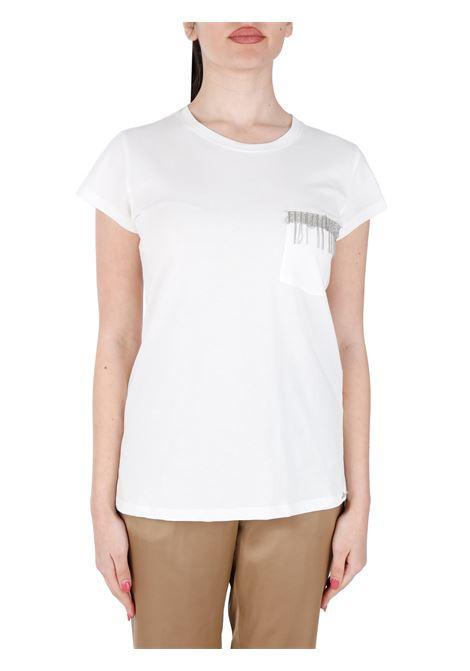 WHITE COTTON T-SHIRT KAOS | T-shirt | NPSFS0121065