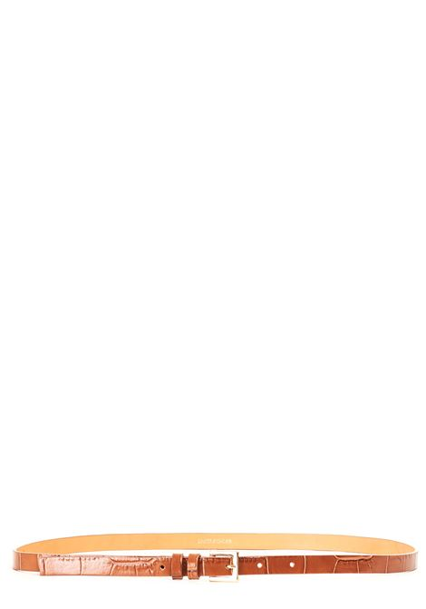 CAMEL LEATHER BELT WITH GOLD BUCKLE L'AUTRE-CHOSE | Belts | LCN002152106