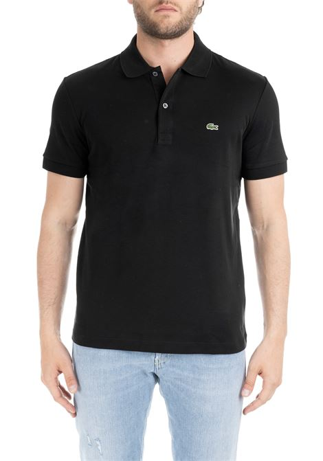 BLACK CLASSIC POLO IN PIQUE' OF COTTON Lacoste | Polo Shirts | DH2050031