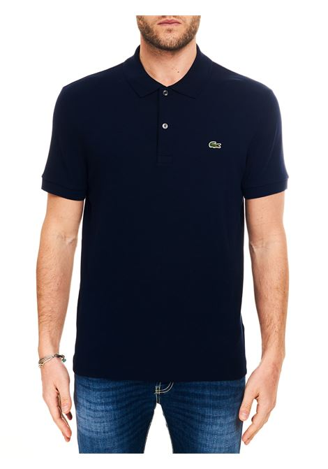 BLUE COTTON POLO WITH FRONT LOGO EMBROIDERY Lacoste |  | DH2050166