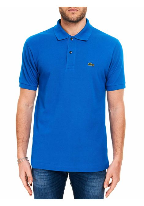 BLUE COTTON POLO WITH FRONT LOGO EMBROIDERY Lacoste |  | DH2050HJM