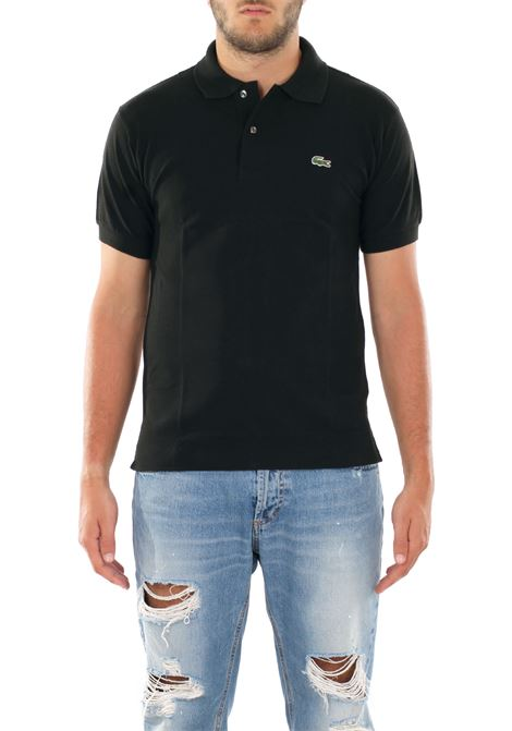 BLACK CLASSIC POLO IN PIQUE' OF COTTON Lacoste | Polo Shirts | L1212031