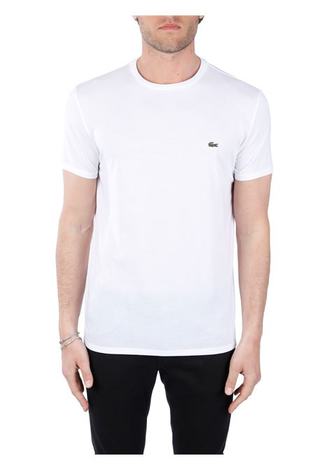 T-SHIRT BIANCA IN JERSEY DI COTONE PIMA Lacoste | T-shirt | TH6709001