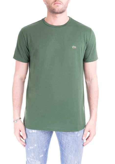 T-SHIRT VERDE IN COTONE PIMA ULTRA LEGGERO Lacoste | T-shirt | TH6709132