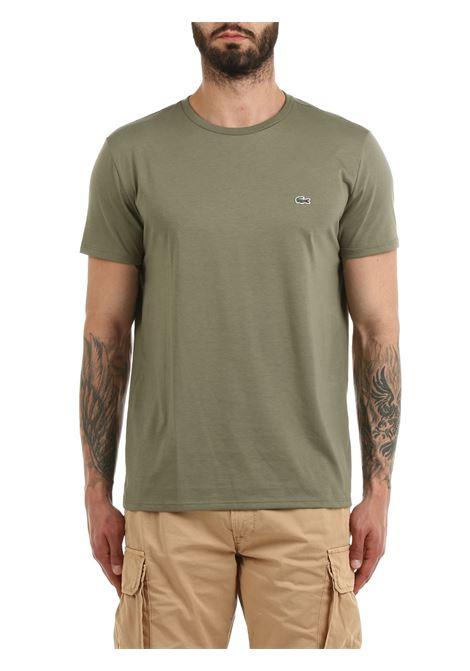 T-SHIRT VERDE IN COTONE PIMA ULTRA LEGGERO Lacoste | T-shirt | TH6709316