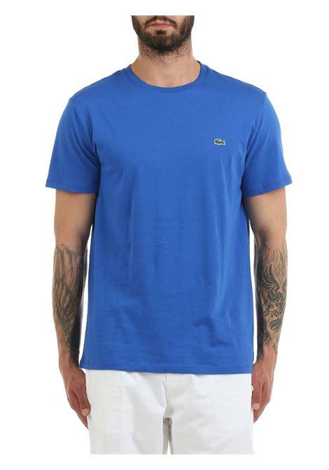 T-SHIRT CELESTE IN COTONE PIMA ULTRA LEGGERO Lacoste | T-shirt | TH6709HJM