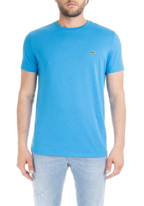 T-SHIRT CELESTE IN COTONE PIMA ULTRA LEGGERO Lacoste | T-shirt | TH6709PTV