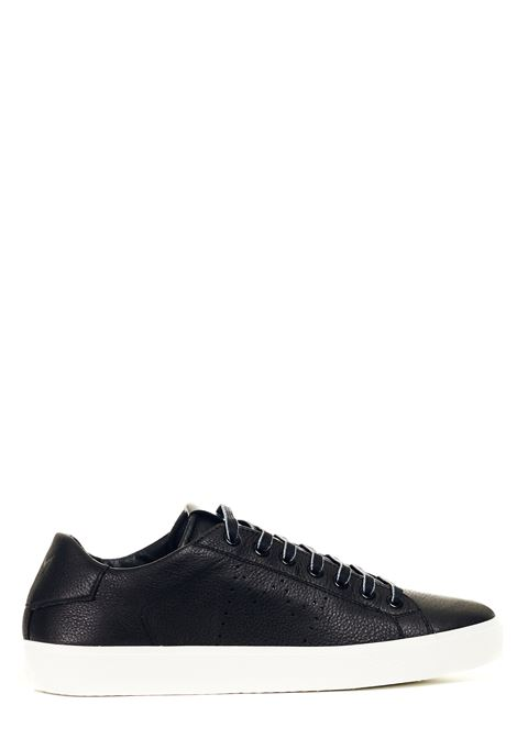 BLACK LEATHER SNEAKERS LEATHER CROWN | Sneakers | MLC13620119NERO