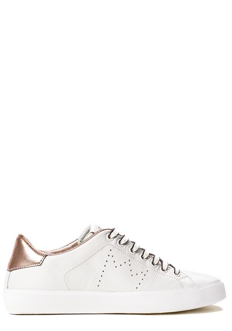 SNEAKERS BIANCA IN PELLE CON CORONA PERFORATA LEATHER CROWN | Sneakers | WLC0620112BIANCO