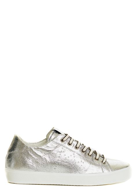 SNEAKERS SILVER IN PELLE LEATHER CROWN | Sneakers | WLC13620120ARGENTO