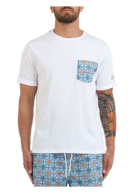 T-SHIRT BIANCA CON TASCHINO A CONTRASTO LORD PARTENOPEI | T-shirt | T-SHIRT01VIETRICEL.BIANCO