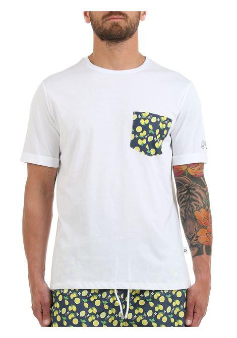 T-SHIRT BIANCA CON TASCHINO A CONTRASTO LORD PARTENOPEI | T-shirt | T-SHIRT03LIMOBIANCO