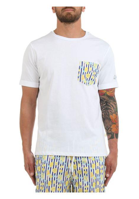 T-SHIRT BIANCA CON TASCHINO A CONTRASTO LORD PARTENOPEI | T-shirt | T-SHIRT09COKTALBLUEBIANCO