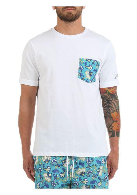 T-SHIRT BIANCA CON TASCHINO A CONTRASTO LORD PARTENOPEI | T-shirt | T-SHIRT12POSIVERDEBIANCO