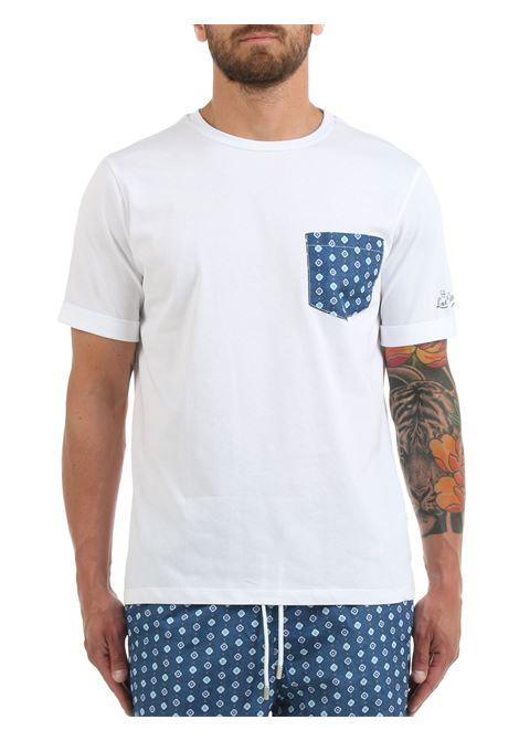 T-SHIRT BIANCA CON TASCHINO A CONTRASTO LORD PARTENOPEI | T-shirt | T-SHIRT13MICROBLUEBIANCO