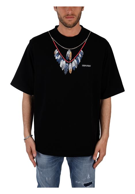 T-SHIRT IN JERSEY DI COTONE MARCELO BURLON | T-shirt | CMAA054S21JER0021045