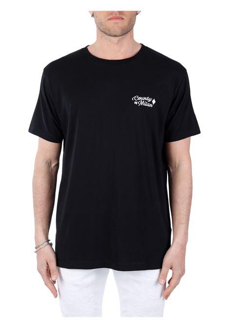 T-SHIRT NERA IN COTONE MARCELO BURLON | T-shirt | CMAA075S21JER0021061