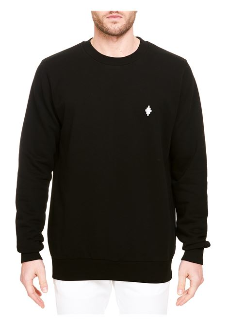 BLACK SWEATSHIRT WITH EMBROIDERED LOGO MARCELO BURLON | Sweatshirts | CMBA009R21FLE0031001