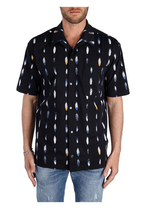 CAMICIA CON STAMPA FEATHERS HAWAII ALL OVER MARCELO BURLON | Camicie | CMGA069S21JER0011045