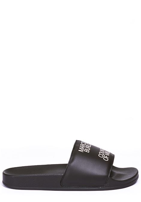 LOW BLACK SANDAL MARCELO BURLON | Slide Sandals | CMIA027E20PLA0031001