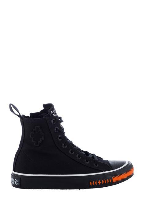 SNEAKERS VULCANIZED NERE IN COTONE MARCELO BURLON | Sneakers | CMIA085S21FAB0011020