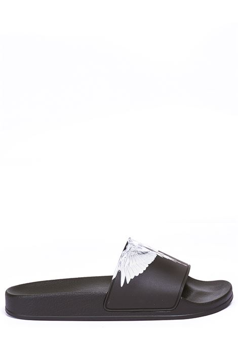 LOW BLACK SANDAL MARCELO BURLON | Slide Sandals | CMIC001R21PLA0011001