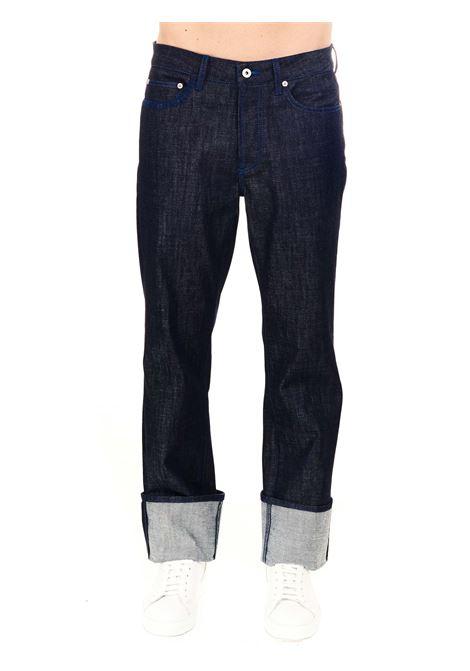 JEANS IN DENIM WASHED MARCELO BURLON | Jeans | CMYA027S21DEN0014901