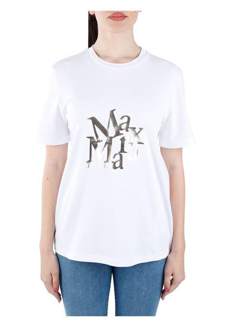 SALETTAT-SHIRT BIANCA SALETTA CON LOGO FRONTALE MAX MARA'S | T-shirt | 99710111600002