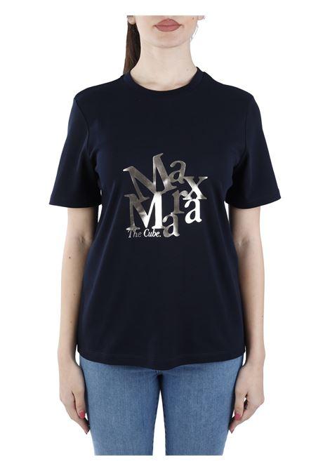 T-SHIRT BLU SALETTA CON LOGO FRONTALE MAX MARA'S | T-shirt | 99710111600010