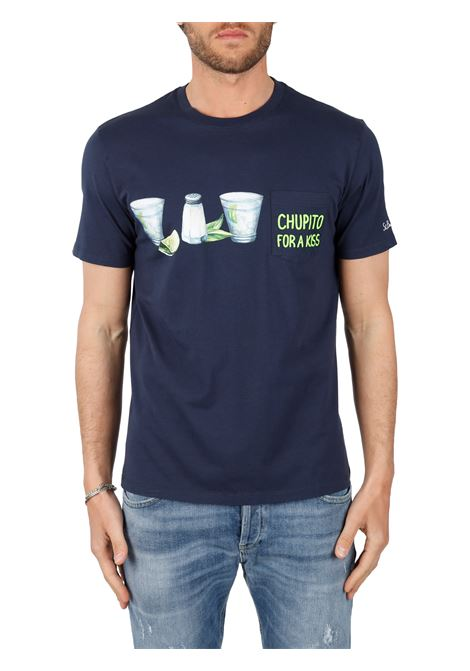 T-SHIRT CHUPITO KISS IN COTONE MC2SAINTBARTH | T-shirt | AUSTINEMBCHUPITOKISS61BLU