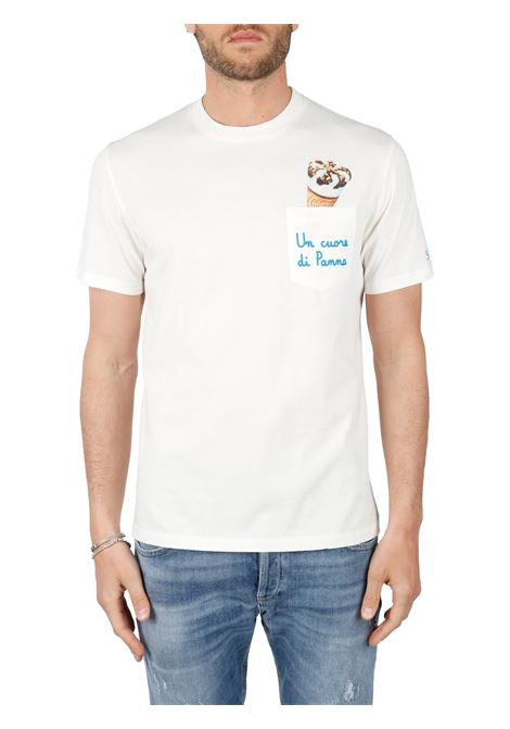 T-SHIRT CORNETTO IN COTONE MC2SAINTBARTH | T-shirt | AUSTINEMBCORNETTO11bianco