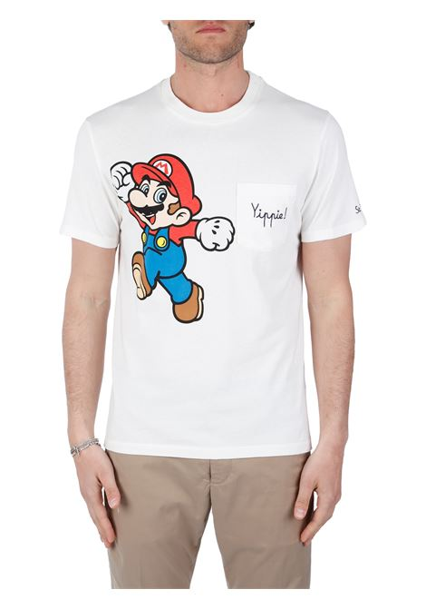 T-SHIRT CON STAMPA MARIO BROS MC2SAINTBARTH | T-shirt | AUSTINEMBMARIOJARRIVE11BIANCO