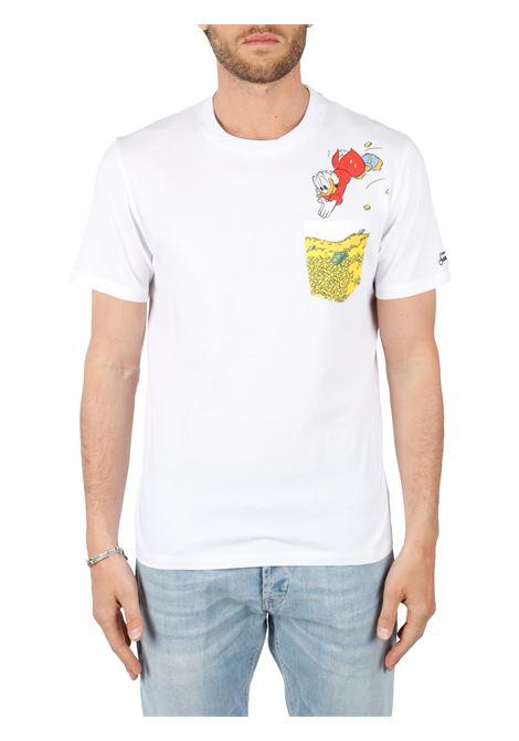 T-SHIRT BIANCA CON STAMPA PAPERINO MC2SAINTBARTH | T-shirt | AUSTINPAPERONDEPAPERONI01bianco