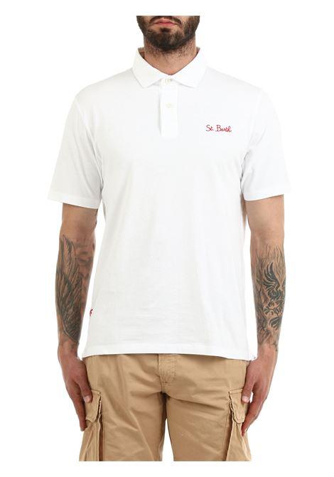 BRIGHTON COTTON POLO SHIRT MC2SAINTBARTH | Polo shirt | BRIGHTONFADEDYDE01bianco