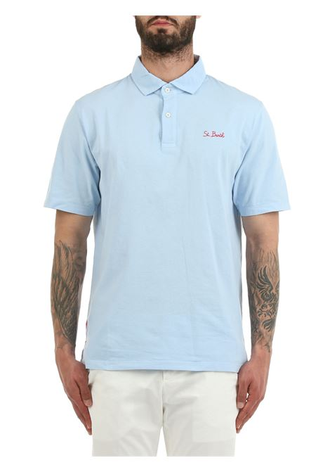 BRIGHTON COTTON POLO SHIRT MC2SAINTBARTH | Polo shirt | BRIGHTONFD31Lazzurro
