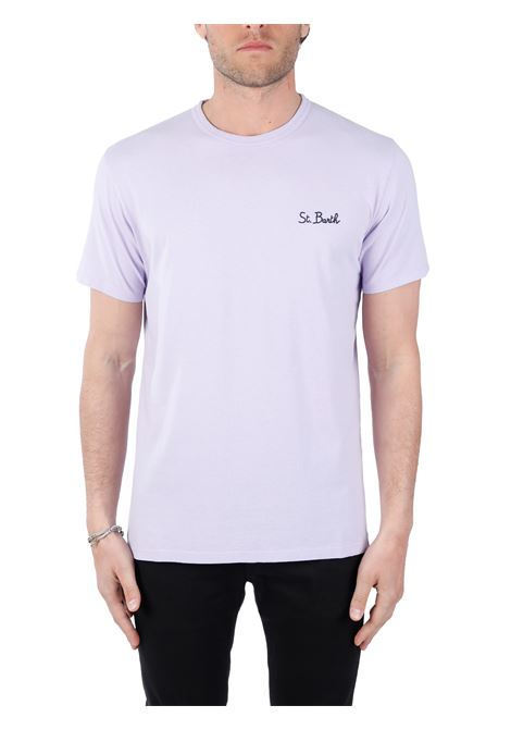 LILAC T-SHIRT WITH FRONT LOGO EMBROIDERY MC2SAINTBARTH |  | DOVERSB2494GLICINE