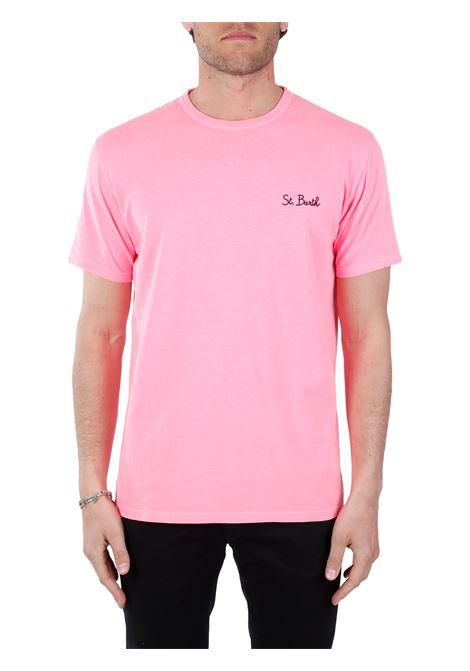 T-SHIRT ROSA CON RICAMO LOGO FRONTALE MC2SAINTBARTH | T-shirt | DOVERSB2561ROSA