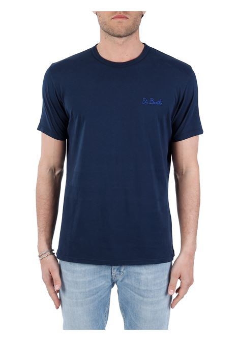 BLUE T-SHIRT WITH FRONT LOGO EMBROIDERY MC2SAINTBARTH |  | DOVERSB6101BLU