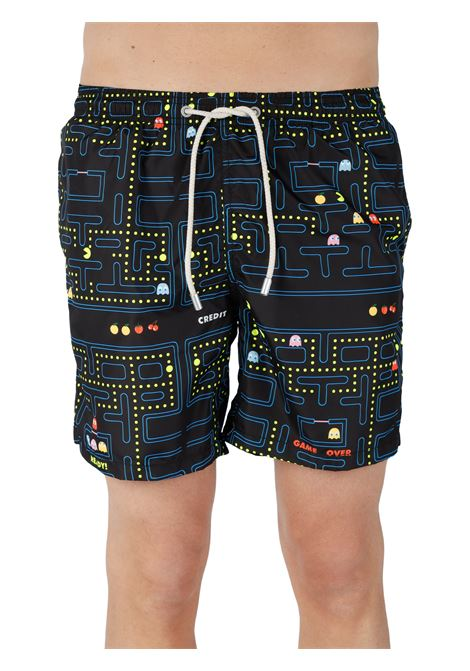 SHORTS MARE TESSUTO LEGGERO FANTASIA MC2SAINTBARTH | Costumi | LIGHTINGACTIONPACMANMULTICOLOR
