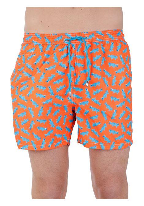 SEA SHORTS FANTASY LIGHTWEIGHT FABRIC MC2SAINTBARTH | Swimming suit | LIGHTINGMICROCROCODILE8531MULTICOLOR