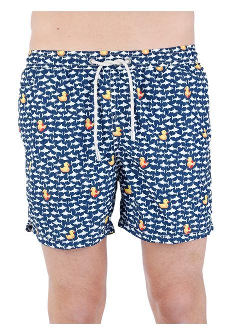 SEA SHORTS FANTASY LIGHTWEIGHT FABRIC MC2SAINTBARTH | Swimming suit | LIGHTINGMICRODUCKYINSHARK61MULTICOLOR