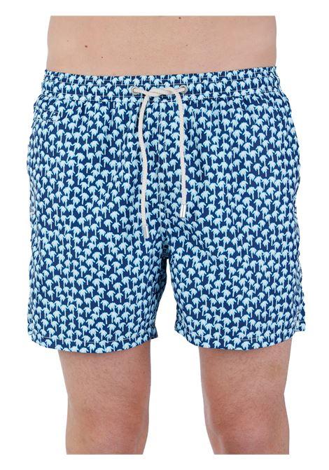 SEA SHORTS FANTASY LIGHTWEIGHT FABRIC MC2SAINTBARTH | Swimming suit | LIGHTINGMICRONEONPALM6131MULTICOLOR