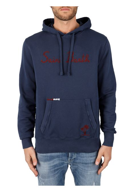 BLUE SWEATSHIRT WITH FRONT LOGO INLAY MC2SAINTBARTH | Sweatshirt | LINCOLNEMBSTBPALM6181BLU