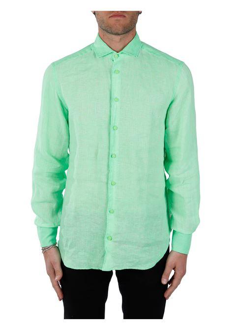 FLUO LINEN SHIRT MC2SAINTBARTH | Shirts | PAMPLONA75FLUOVERDE FLUO