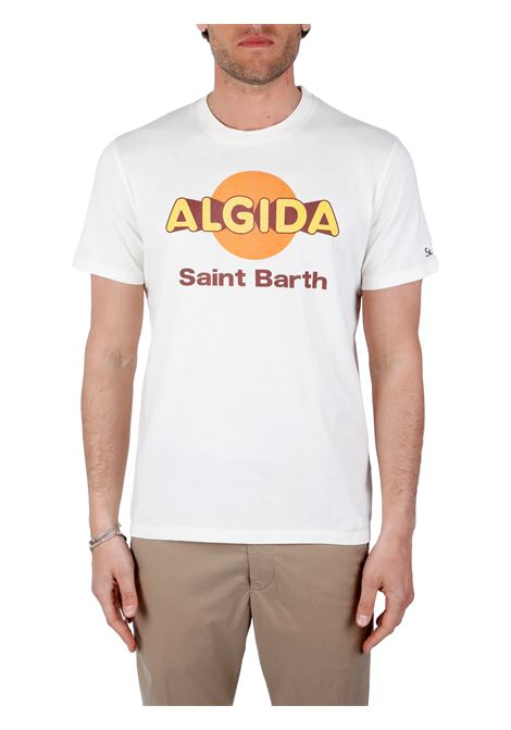 T-SHIRT BIANCA ALGIDA IN COTONE MC2SAINTBARTH | T-shirt | TSHIRTMANALGILOGO11PANNA