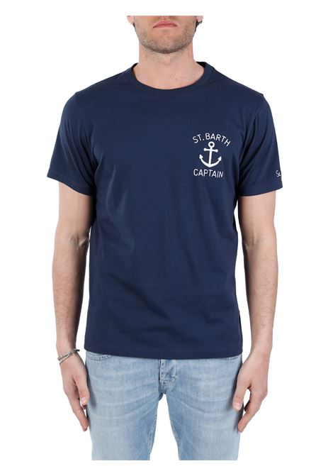 BLUE T-SHIRT WITH FRONT EMBROIDERY MC2SAINTBARTH |  | TSHIRTMANEMBSBCAPTAIN61BLU