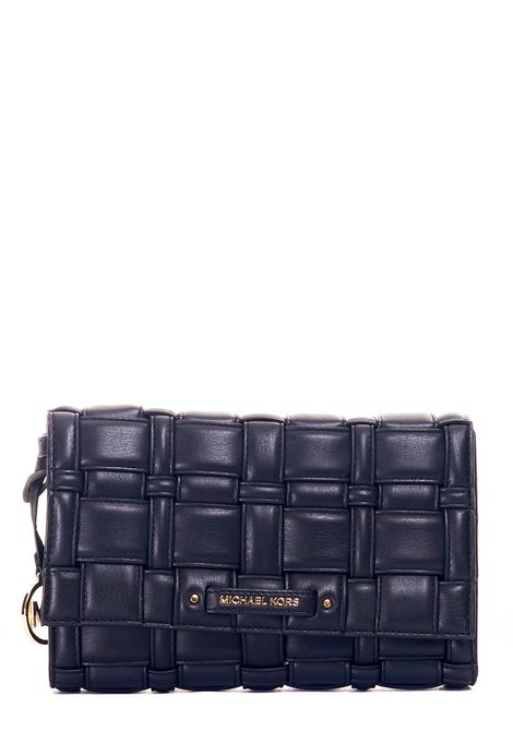 BRAIDED LEATHER SHOULDER BAG MICHAEL DI MICHAEL KORS |  | 32S1G2IC7U001BLACK