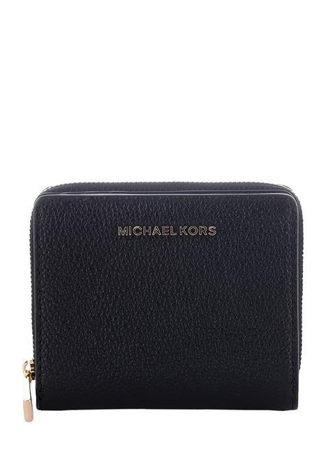 PORTAFOGLI IN PELLE MARTELLATA MICHAEL DI MICHAEL KORS | Portafogli | 34F9GJ6Z8L001BLACK
