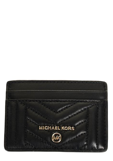 CARD HOLDER IN BLACK QUILTED LEATHER MICHAEL DI MICHAEL KORS |  | 34S0GT9D1L001BLACK