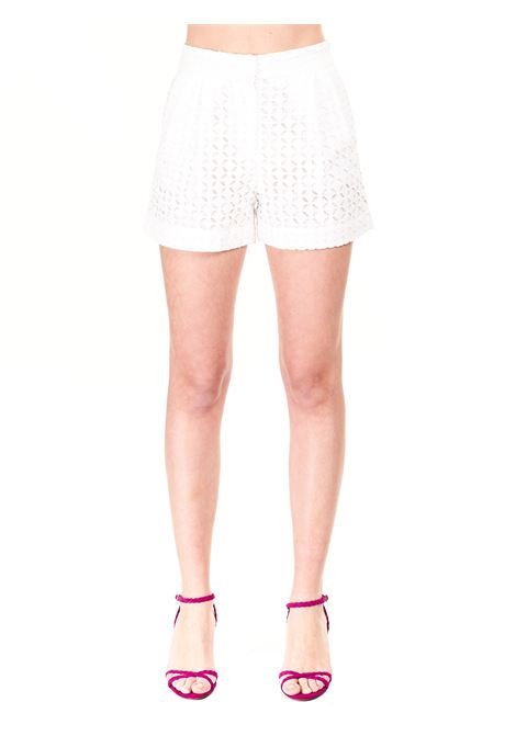 SHORTS WITH LACE IN COTTON MICHAEL DI MICHAEL KORS |  | MS130121DZ100WHITE